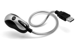USB - Lanterna elétrica. Fotografia de Stock Royalty Free