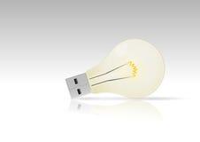 Usb lightbulb Stock Image