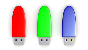 USB memories Stock Images