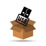 USB memory backup icon design Royalty Free Stock Image