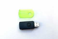 USB memory card reader. USB 2.0 all-in-one memory card reader Royalty Free Stock Photo