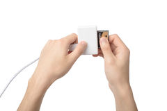 USB Memory Card Reader Stock Photo