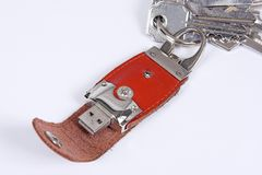 Usb memory key ring Royalty Free Stock Photography