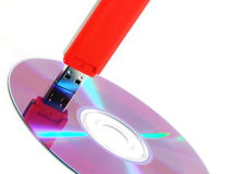 USB Memory Stick and CD Stock Photography