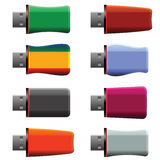 USB memory sticks Royalty Free Stock Images