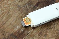 Usb modem fotografia stock