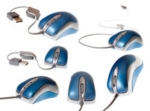 USB mouse - mega set Royalty Free Stock Image