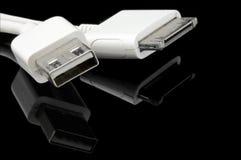 usb mp3 крупного плана кабеля Стоковые Изображения RF