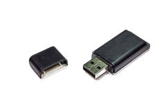 USB multi card reader isolated on white Royalty Free Stock Photos
