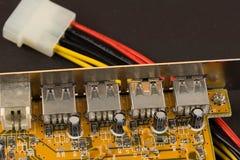 USB nav Fotografering för Bildbyråer