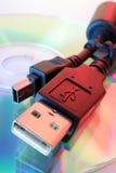 Usb-Netzkabel Stockfoto