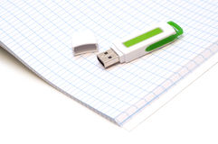 Usb on  notebook Royalty Free Stock Photo
