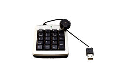 USB Numeric keyboard isolate on white background Royalty Free Stock Image