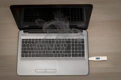 USB overcklock数字体温计和电压 免版税库存图片