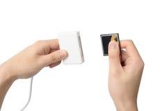 USB pamięci czytnik kart Zdjęcia Royalty Free