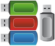 Usb pen icons Stock Photo