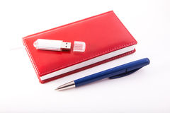 Usb pen notebook Royalty Free Stock Images