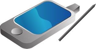 USB Pendrive illustration. PDA Phone illustrtation, 3d isometric style Royalty Free Stock Image
