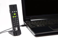 USB Phone for internet communication. The VOIP USB Phone for internet voice communication royalty free stock photography