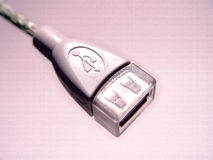 USB Pink Abstract Design Stock Photo