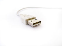 USB plug. And cable on white Stock Photography