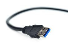 USB plug isolated on white Royalty Free Stock Photography