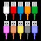 Usb plugs Royalty Free Stock Image
