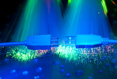 USB plugs and fiber optical Stock Image