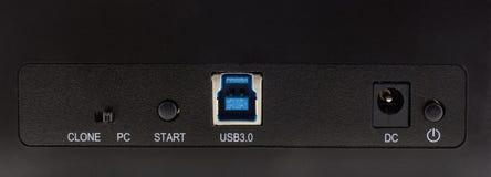 USB port i dc port Zdjęcie Stock