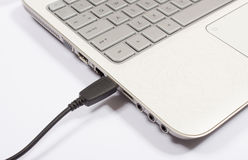 USB port laptop Fotografia Royalty Free
