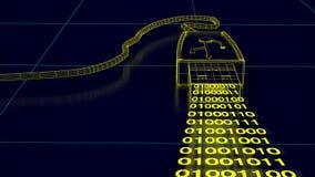 USB-Port mit binär Code zeigt Datenübertragung Lizenzfreie Stockfotografie