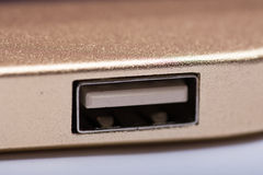 USB port na energia słoneczna banka przyrządzie Zdjęcie Royalty Free