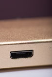 USB port on the solar power bank device Royalty Free Stock Image