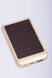 USB port on the solar power bank device Stock Photos