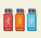 USB portable device storage Stock Photos