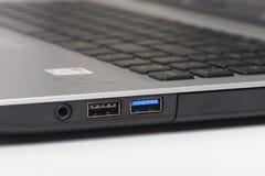 USB 2.0 and 3.0 ports Stock Photos