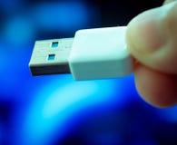 Usb prowadzenie Reprezentuje komputeru akcesorium I port obraz royalty free