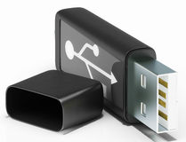 Usb Removable Stick Shows Portable Storage Royalty Free Stock Photos