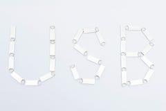 USB scritto dai memory stick Fotografia Stock Libera da Diritti