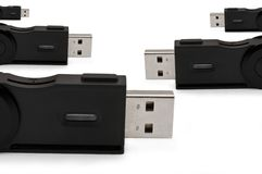 Usb sd adaptor background Stock Photography