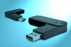 Usb sd adaptors Royalty Free Stock Photos