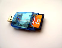 USB SD CARD ADAPTER Royalty Free Stock Photography