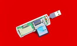 Usb sd card reader Stock Photos
