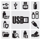 Usb set Royalty Free Stock Photo