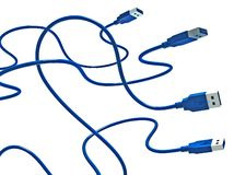 USB Snakes Royalty Free Stock Photography