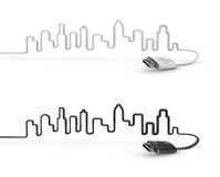 USB-Stadt Stockfotos