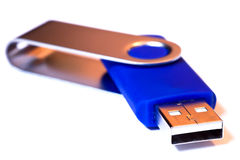 Usb Stick. A closeup of a blue usb stick Royalty Free Stock Images