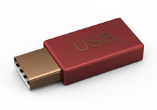 Usb stick or flash drive isolated on white Royalty Free Stock Photo
