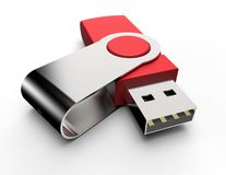 Usb stick isolated Royalty Free Stock Image