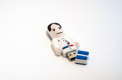 USB stick man-shaped Stock Images